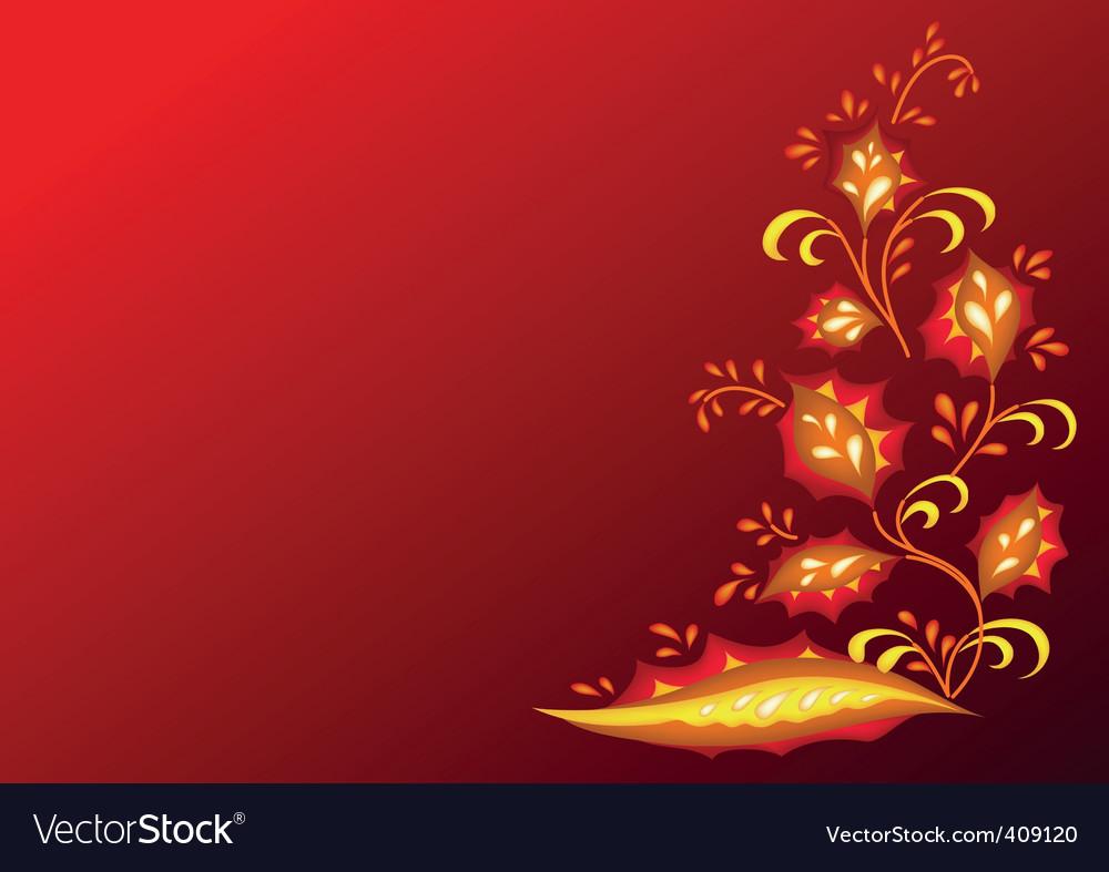 Fiery flower vector