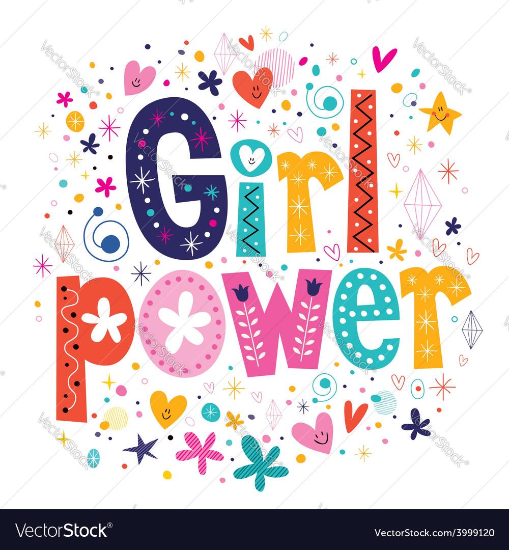 Girl power vector