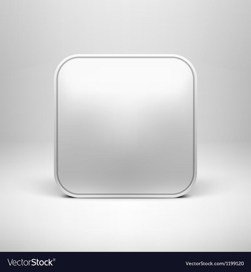Technology blank app icon template vector