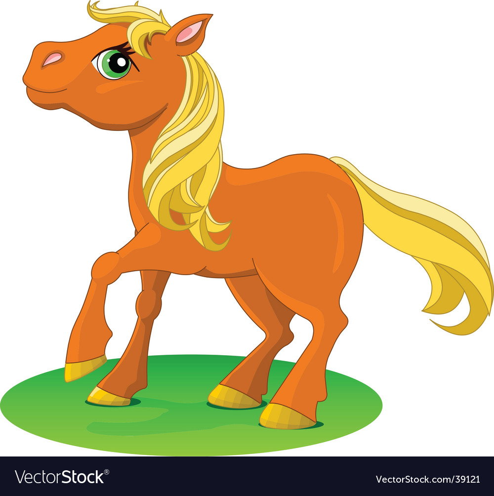 Pony red vector
