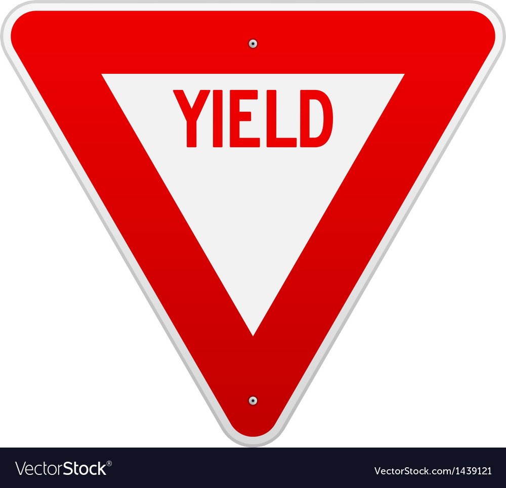 Usa yield sign vector