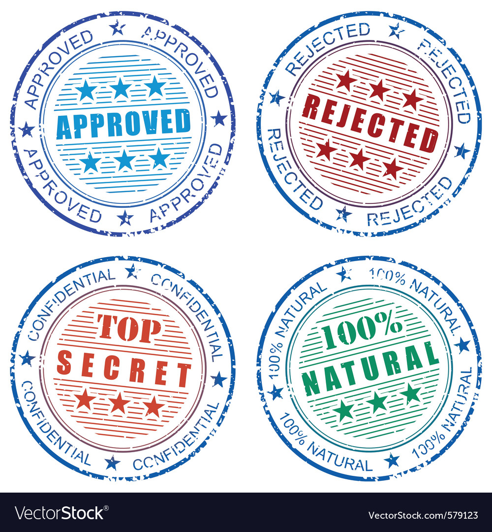 Grunge stamp prints vector