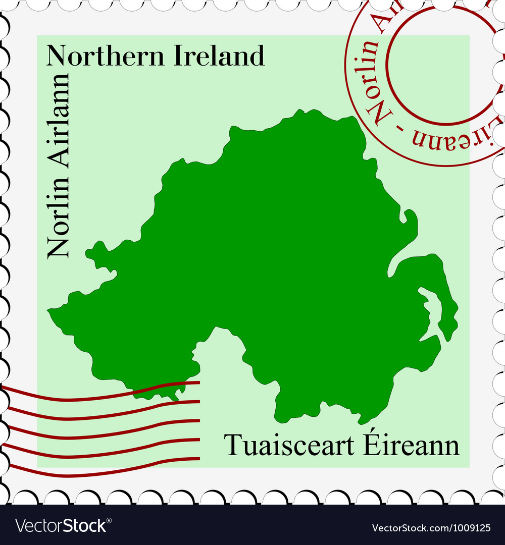 Mail to-from northern ireland vector