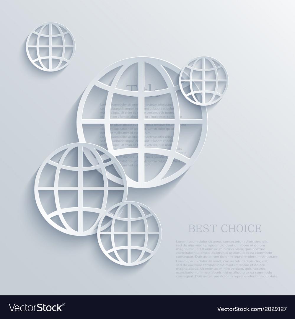 Modern earth background eps 10 vector