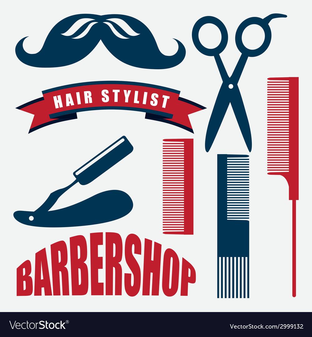 Barber shop design vector