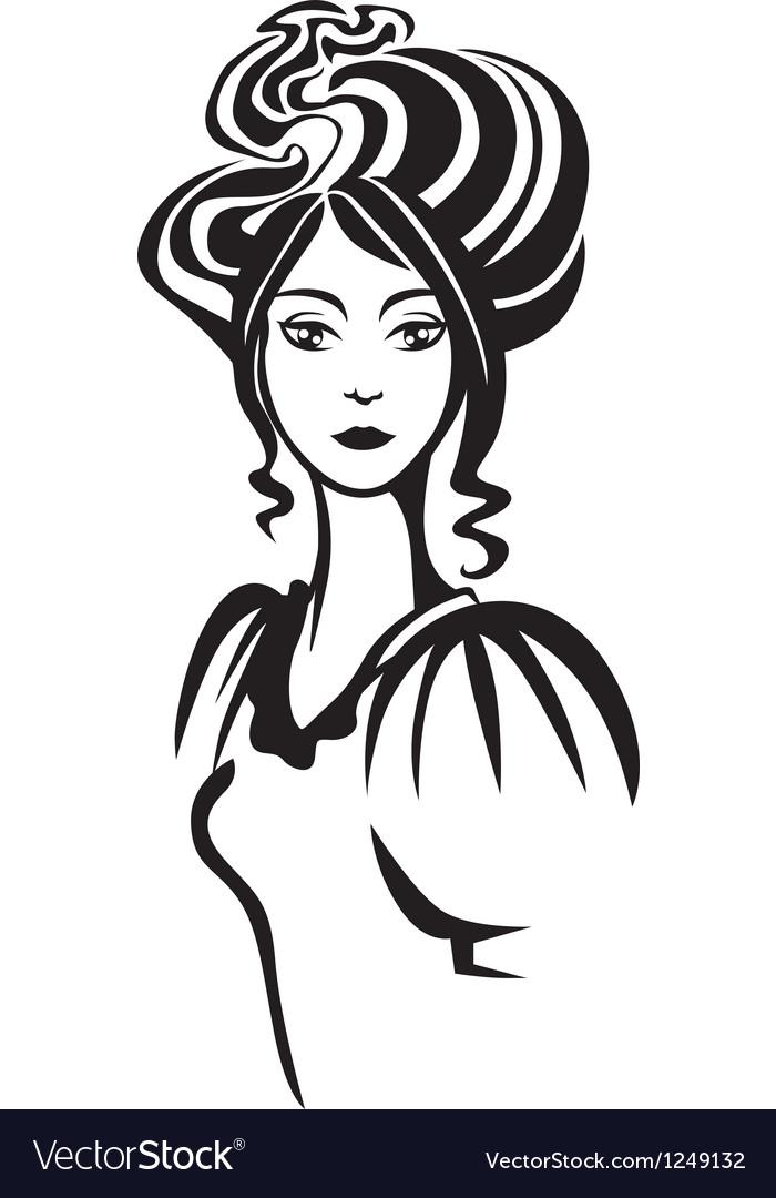 Lady portrait vector