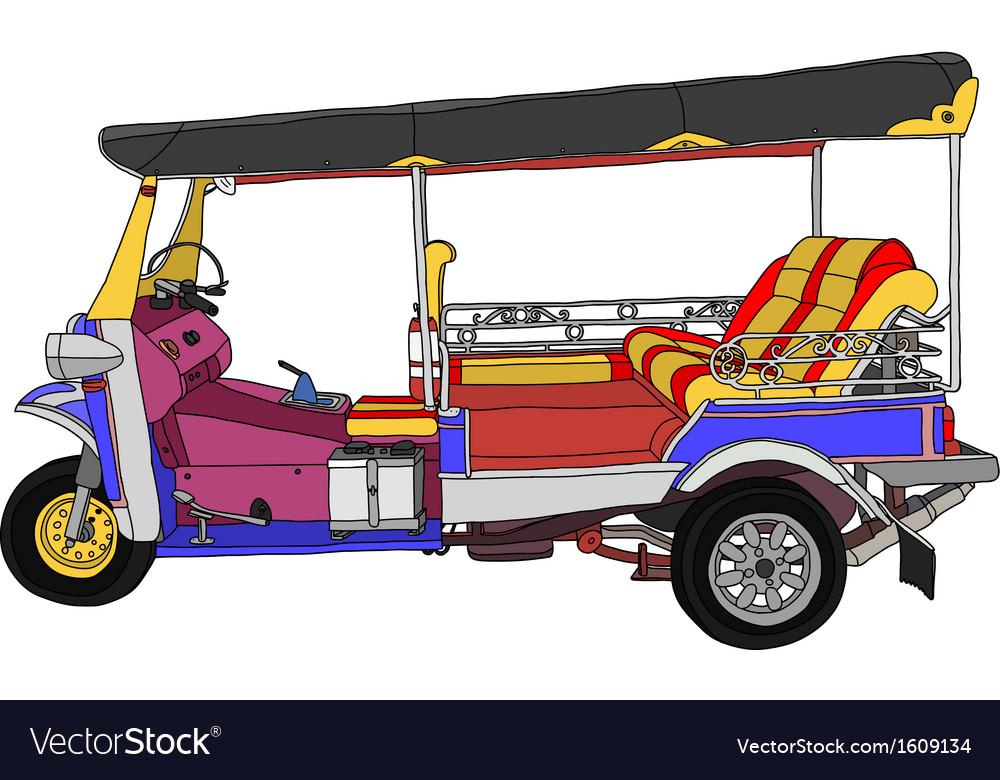 Taxi thailand vector
