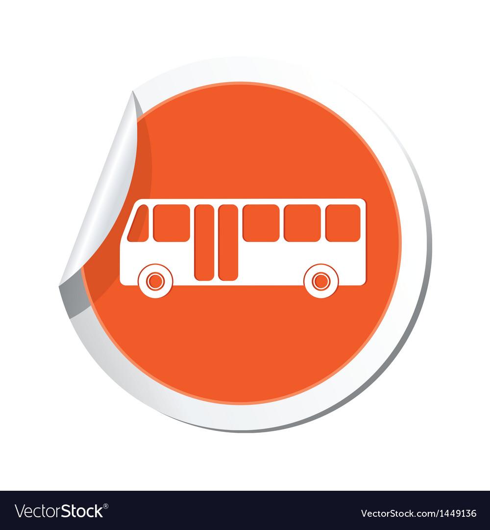 Bus icon vector