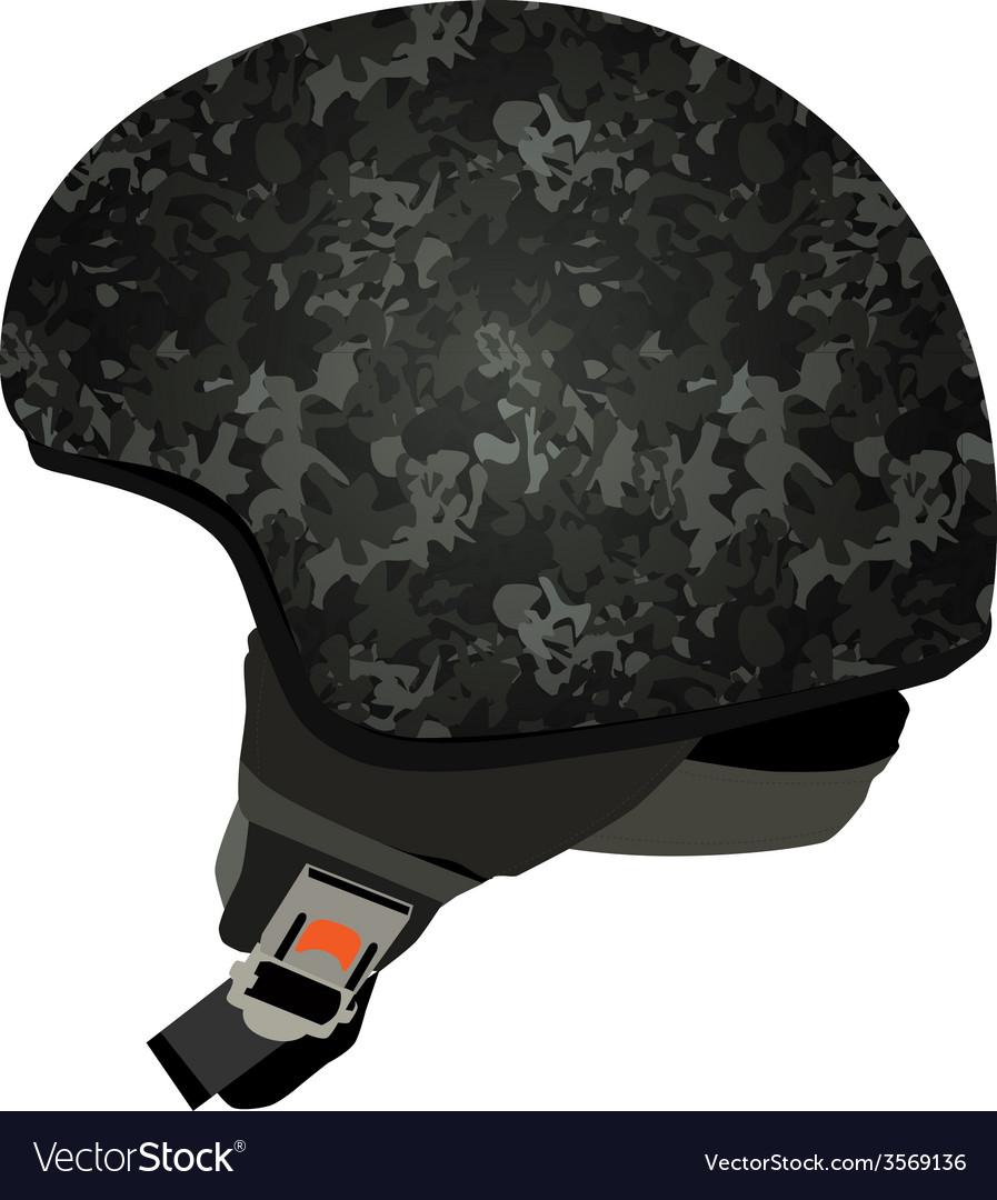 Grey military helmet vector