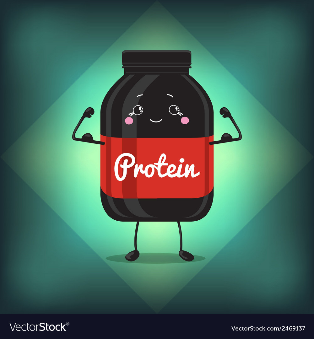 Cute jar sport nutrition protein gainer black can vector