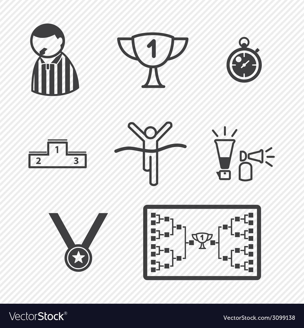 Sport tournament icons vector