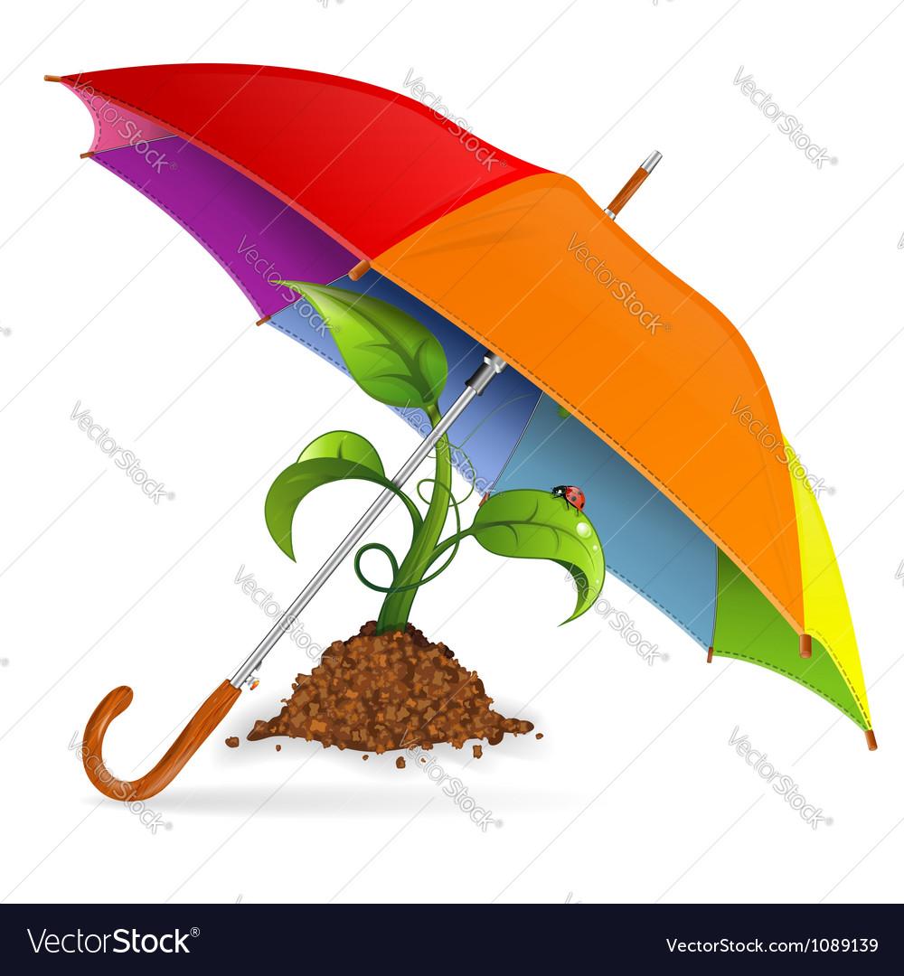 Environment protection concept vector