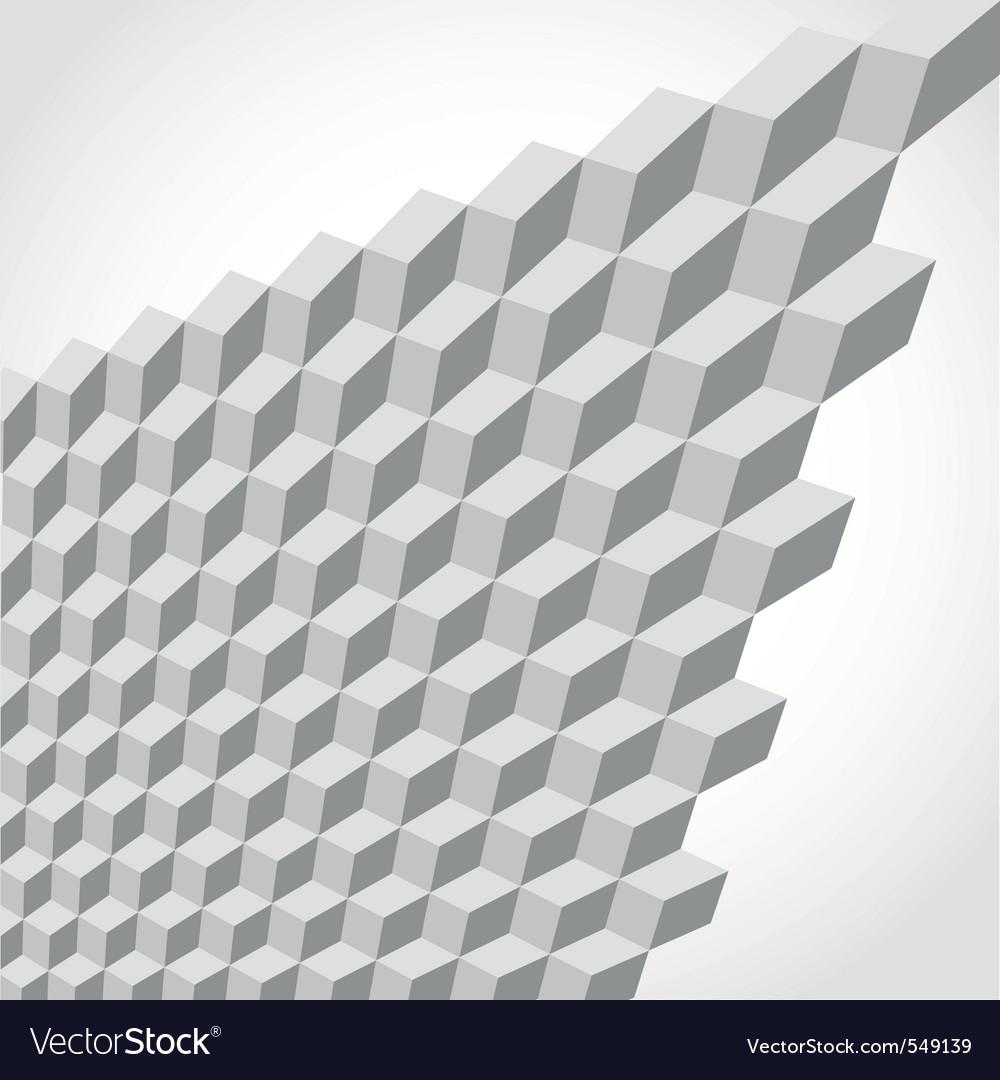 Metallic cubes vector