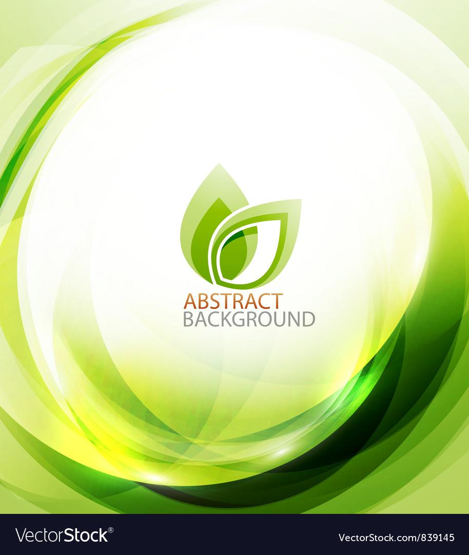 Green eco energy background vector