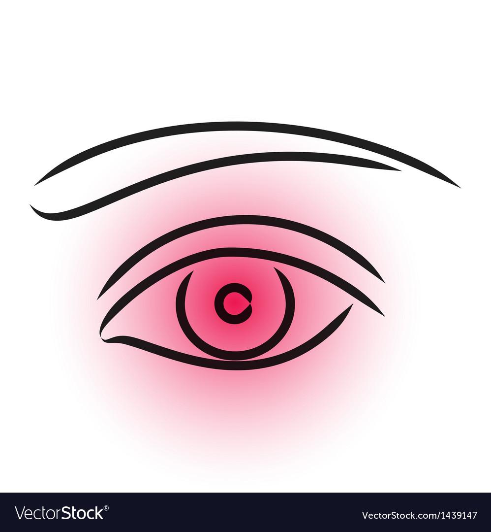Eye pain vector
