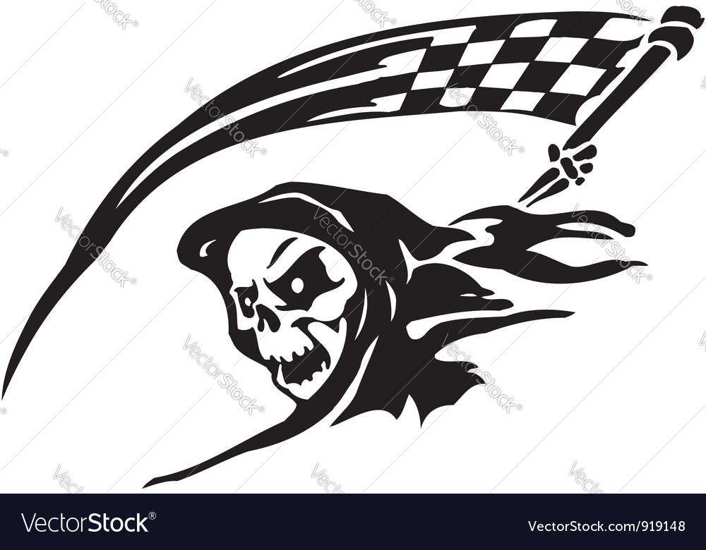 Race sign - vector