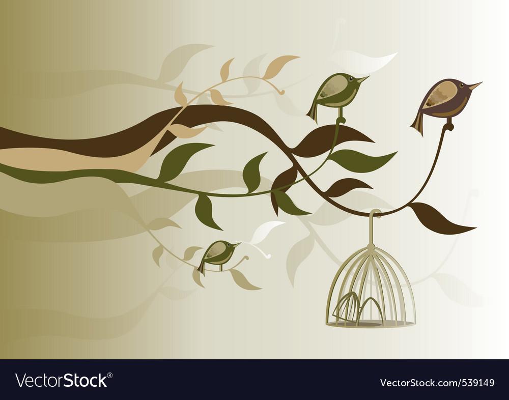 Birds freedom vector