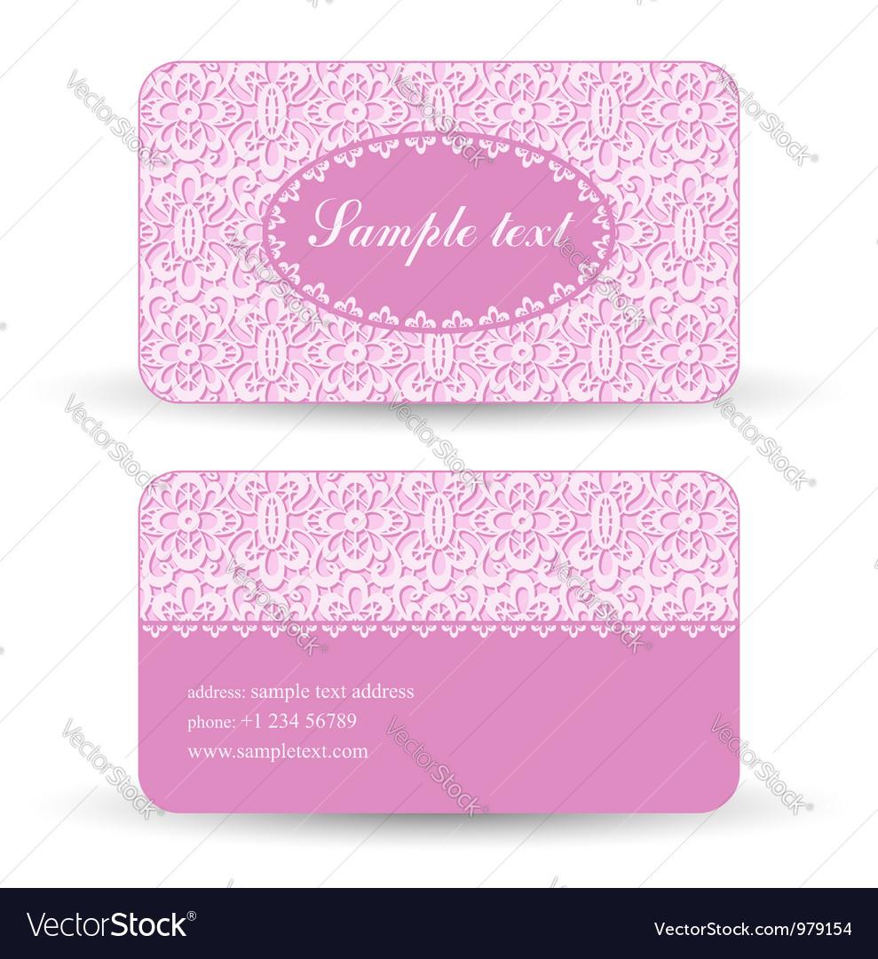 Lacy card vector
