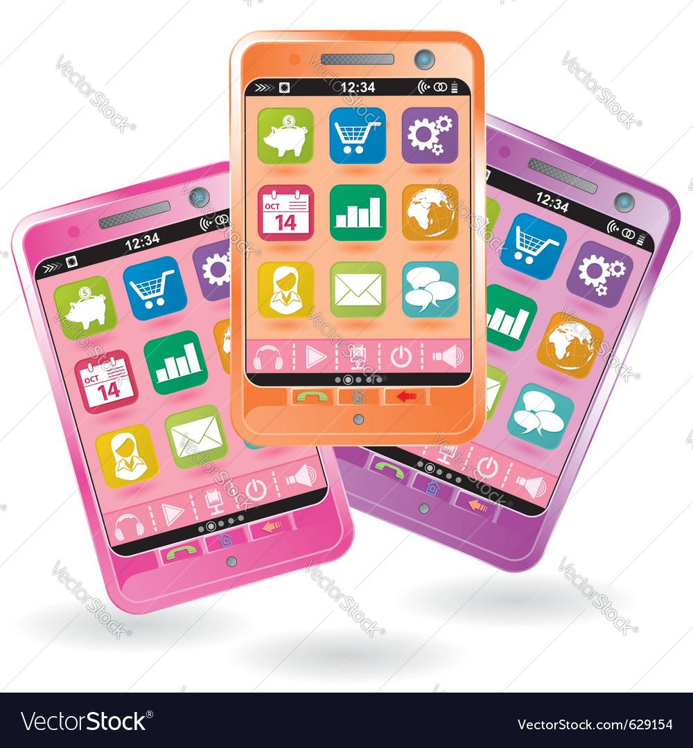 Mobile smartphone vector