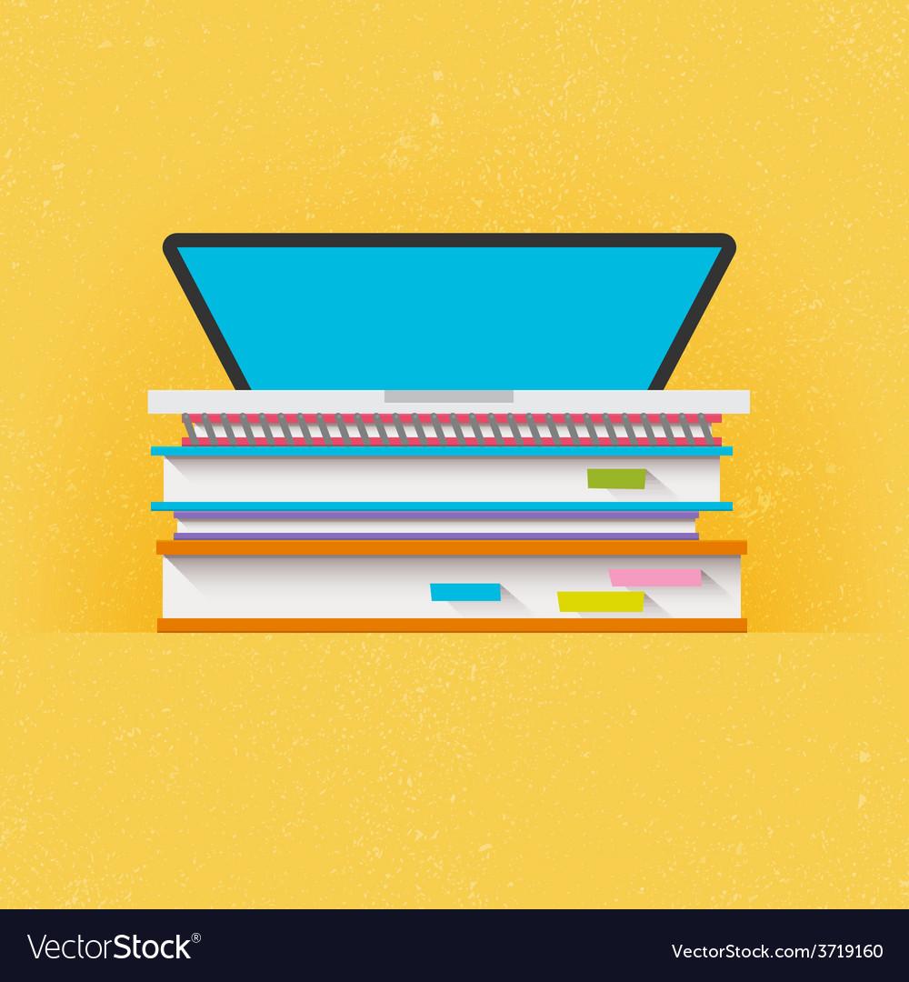 Education concept flat design vector