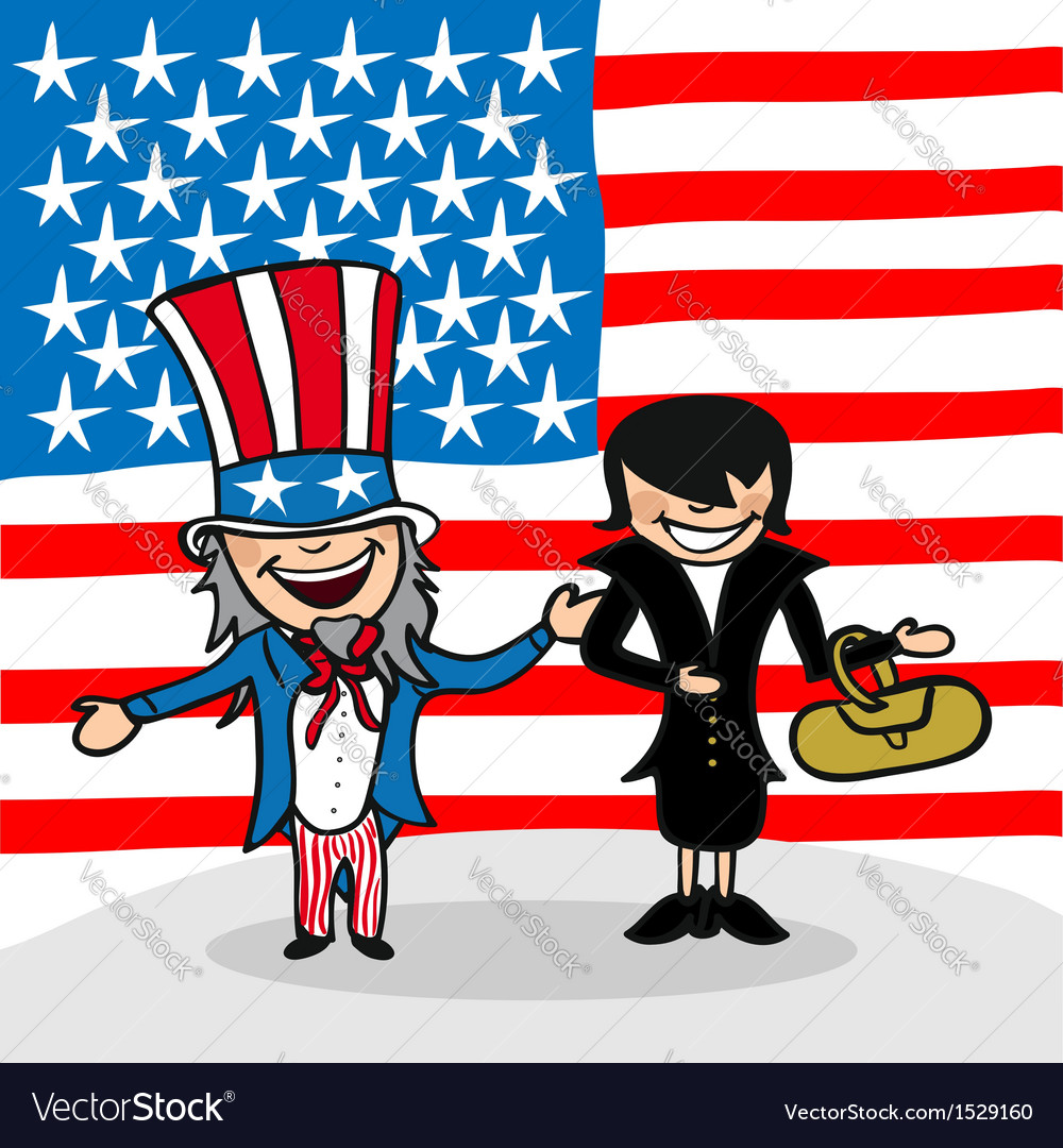Welcome to usa people vector