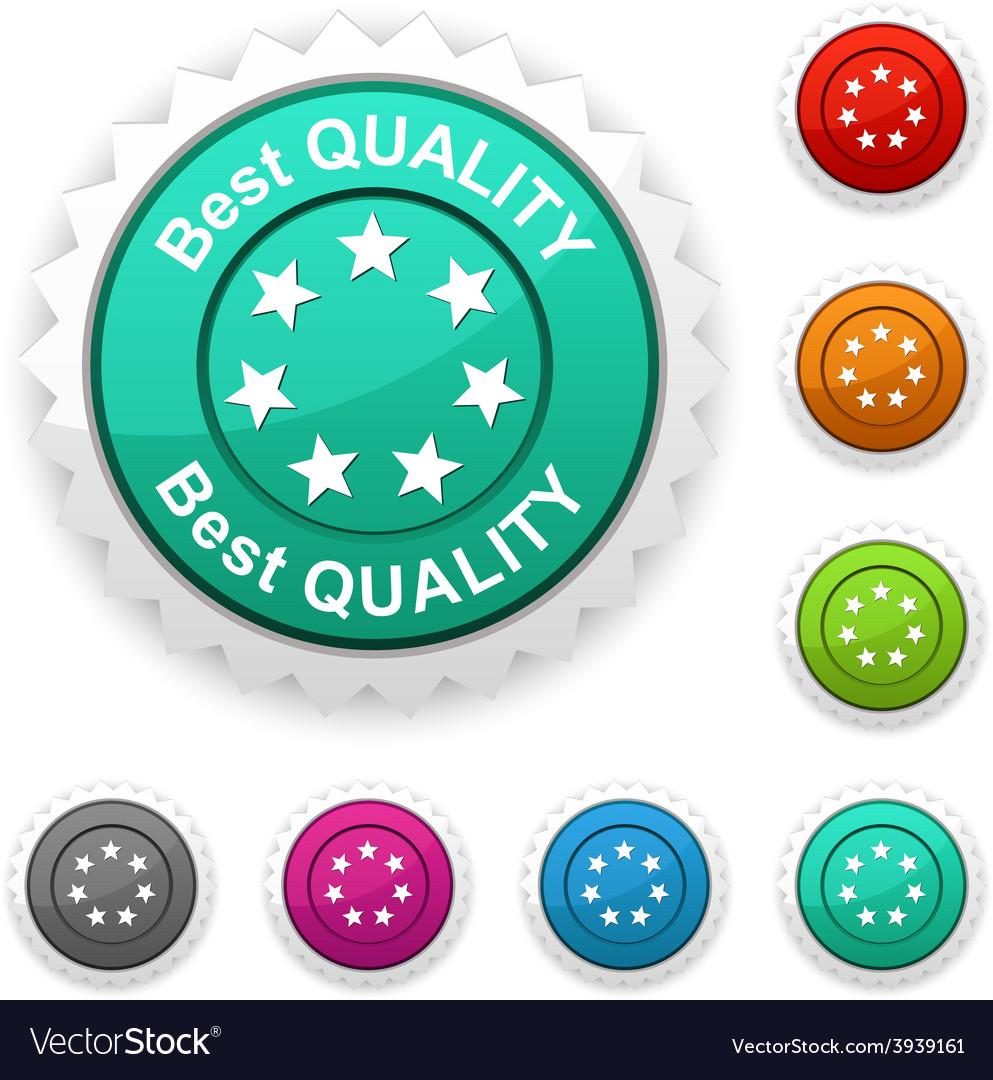 Best quality award vector
