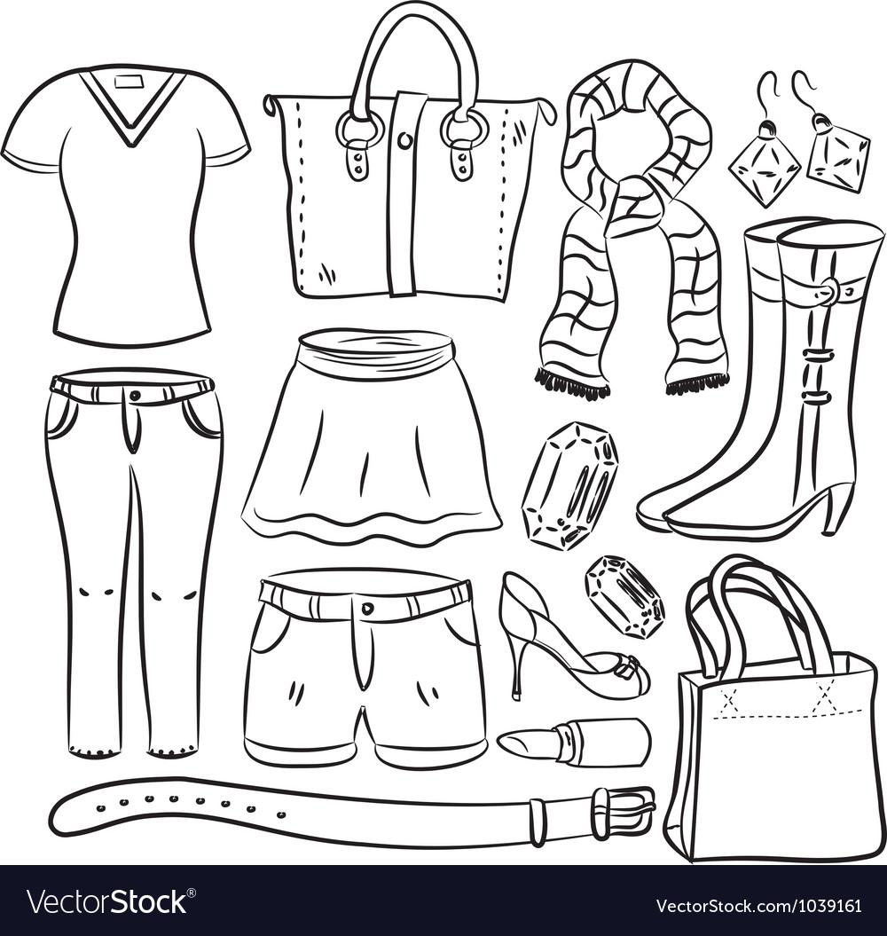 Shopping item vector