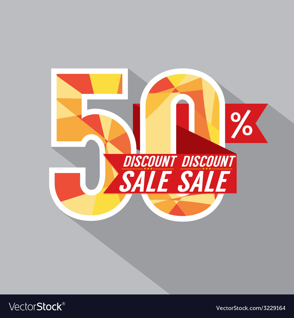 50 percent discount vector