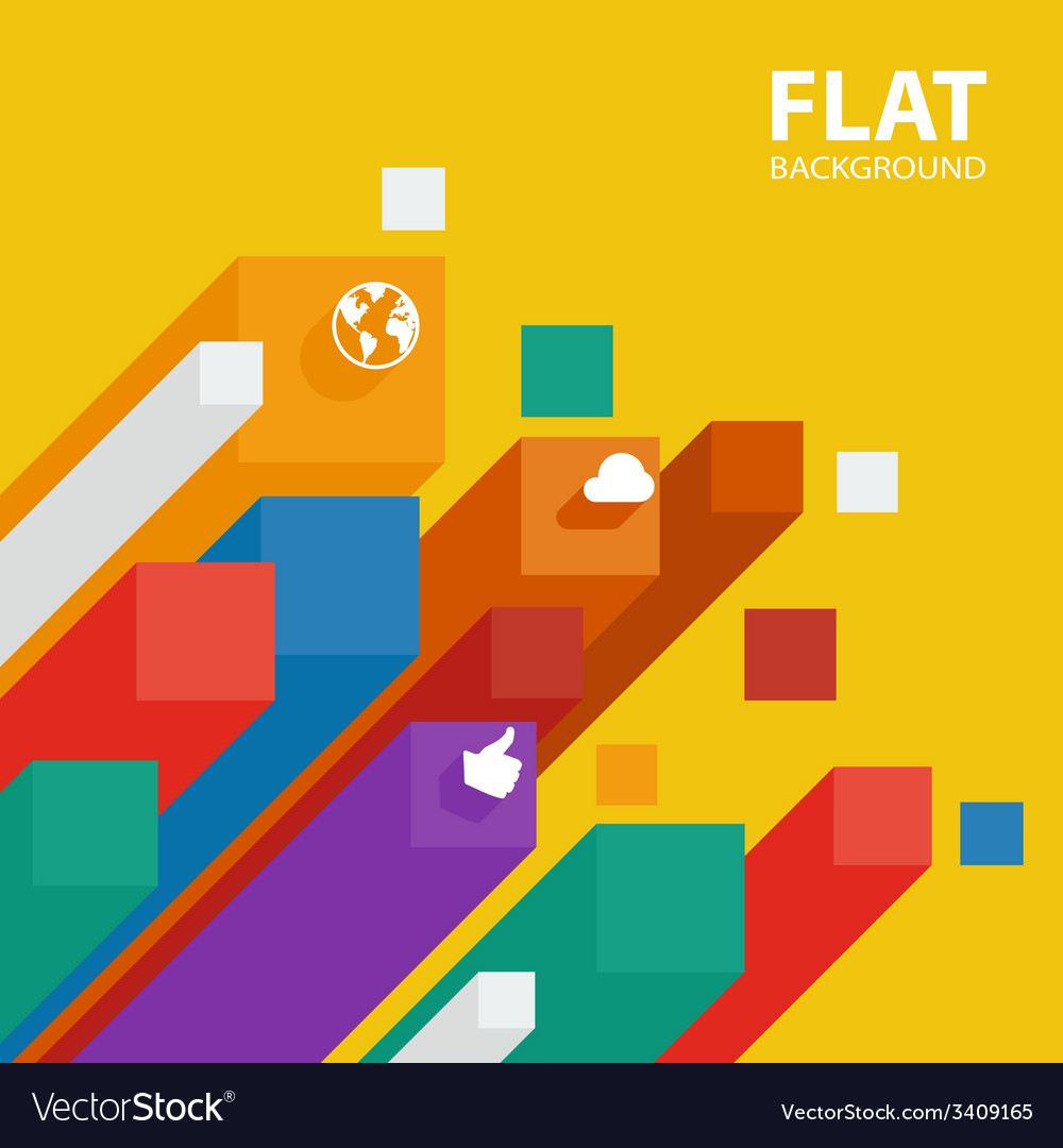 Abstract flat infographic background template with vector