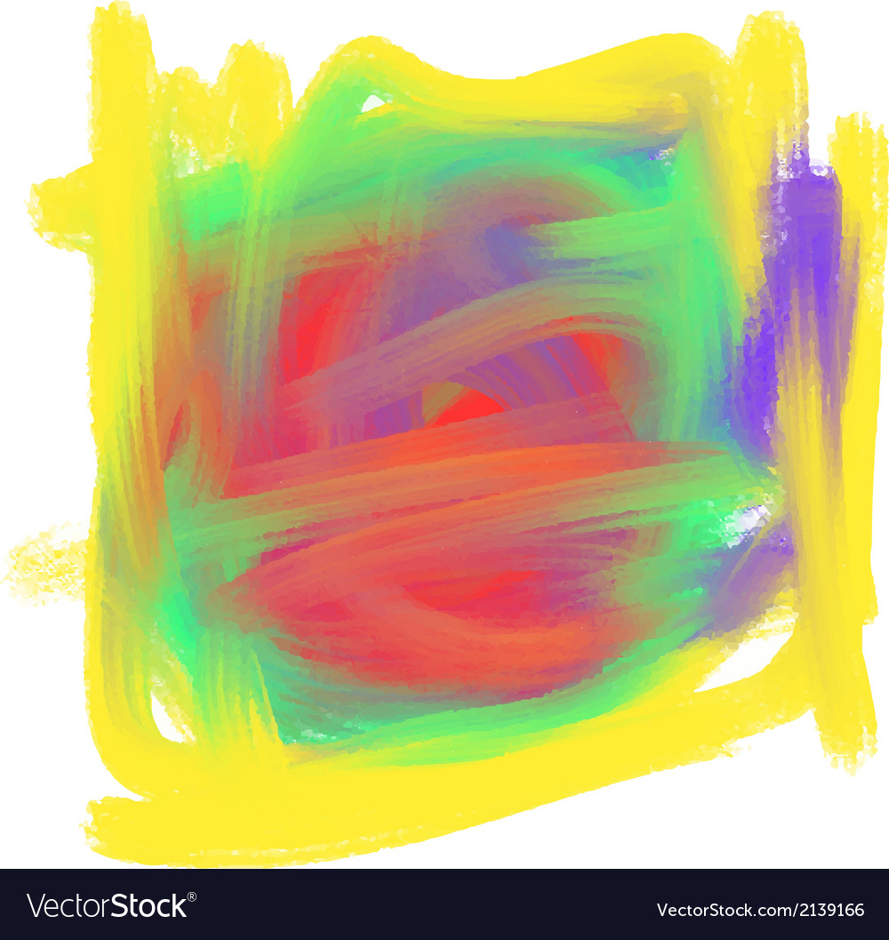 Abstract colorful oil paint mark vector
