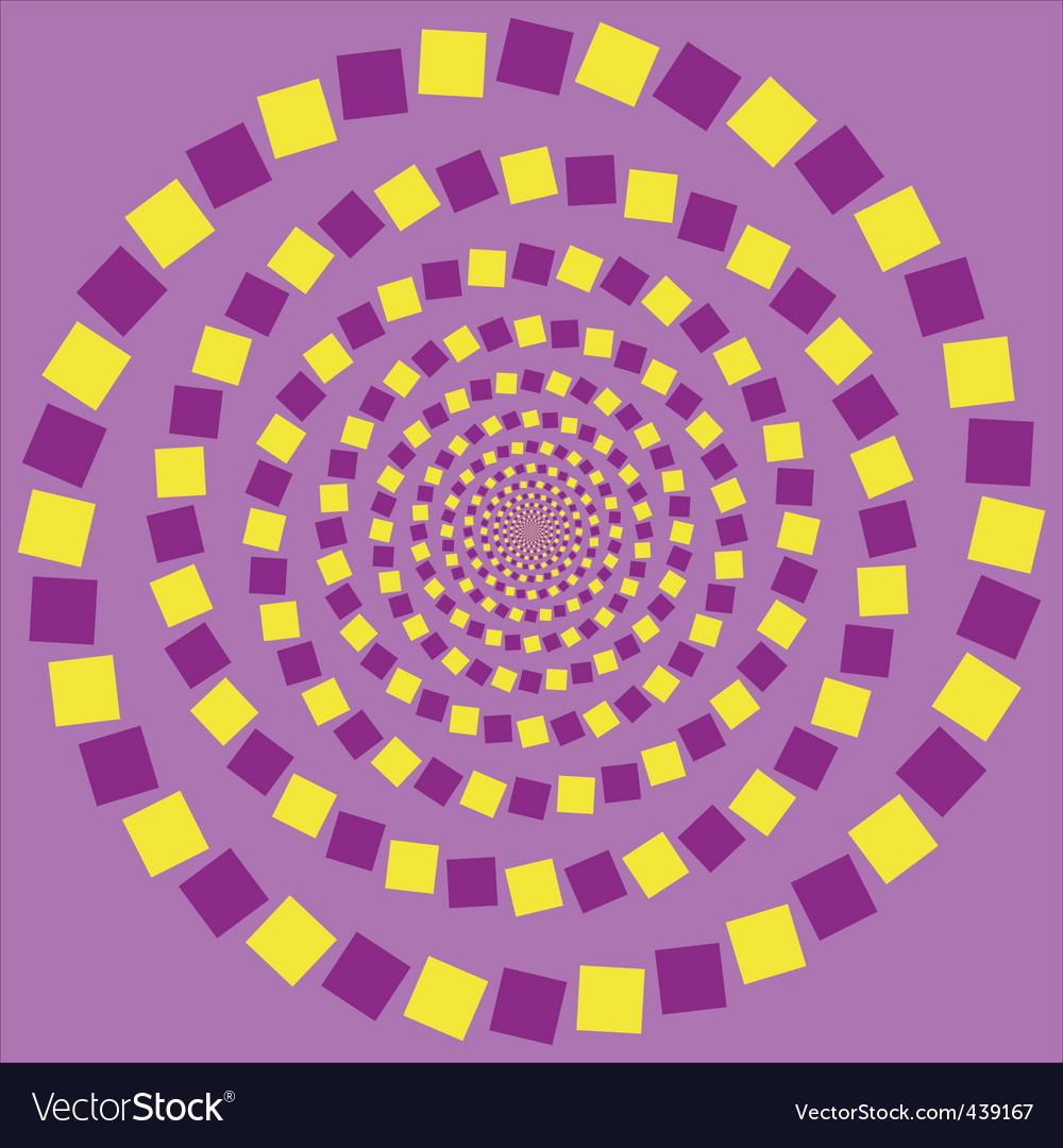 Eccentric rotating circle vector
