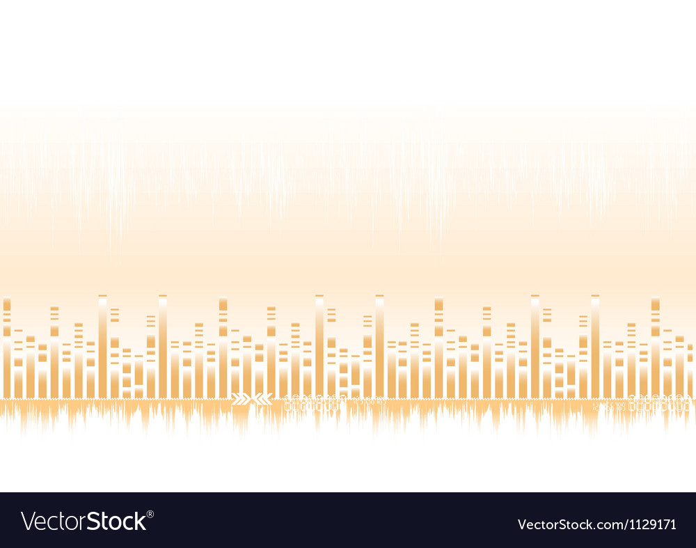 Abstract sound equalizer vector