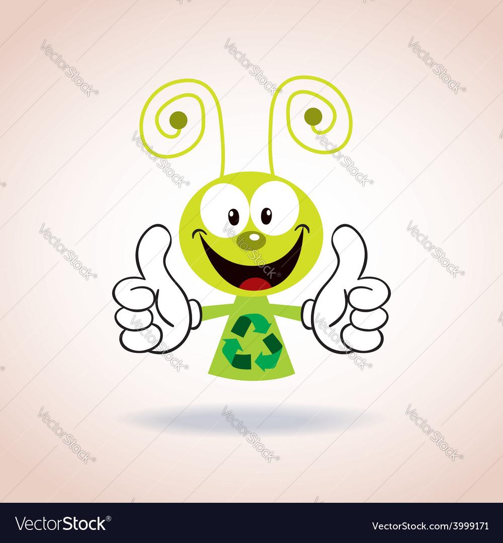 Recycle mascot cartoon character vector