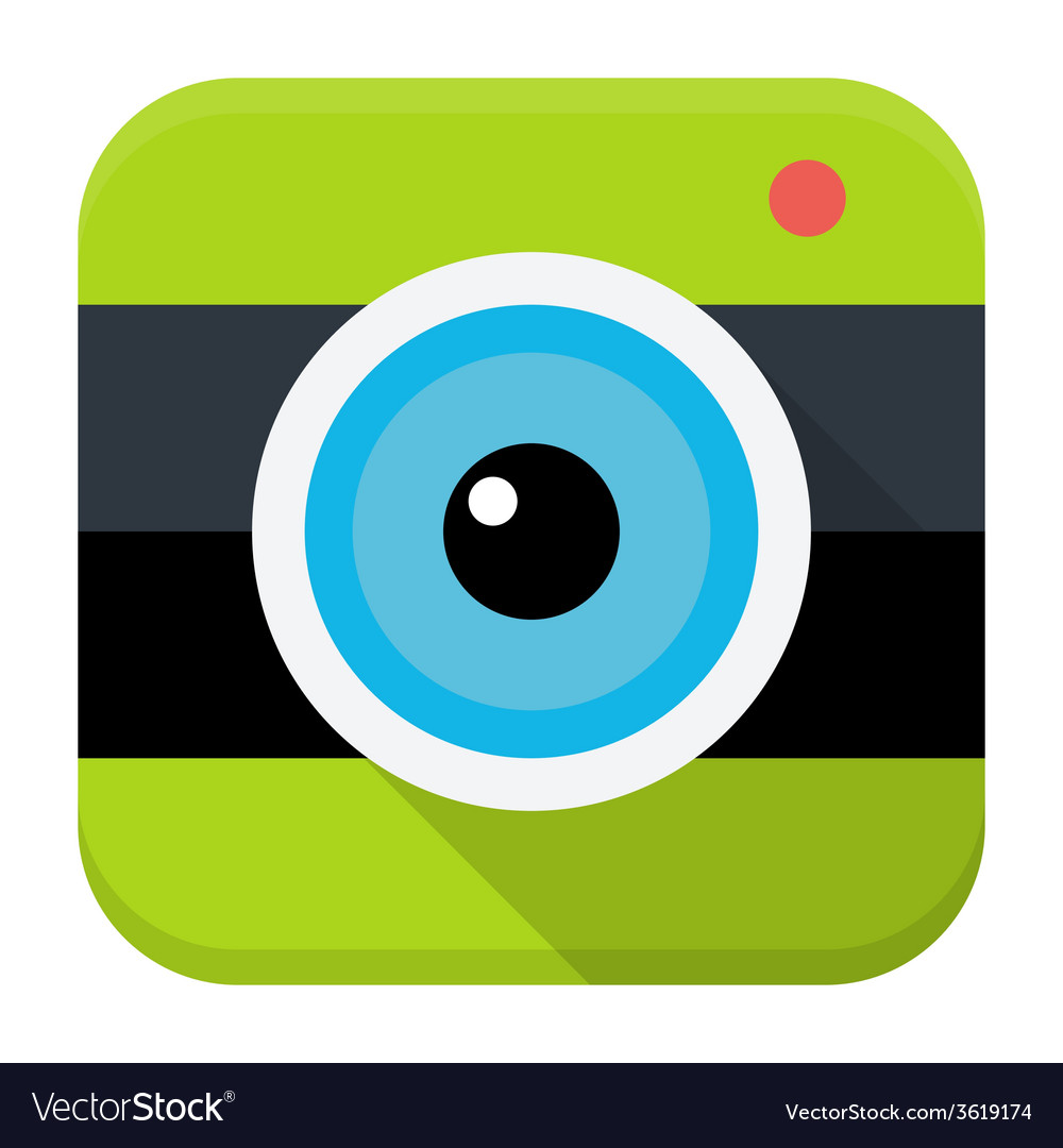 Photo cam flat app icon vector
