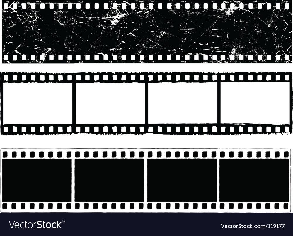 Grunge film strips vector