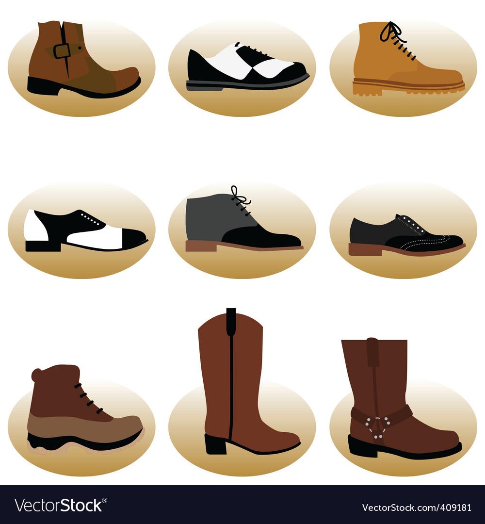 Fashion man shoes vector