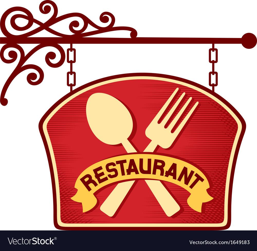 Restaurant sign restaurant symbol vector