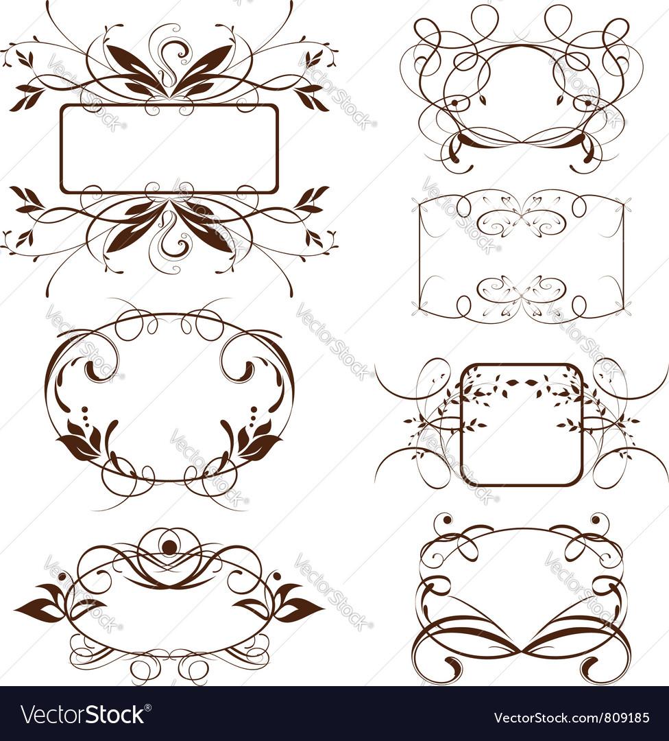 Vintage ornate frame vector