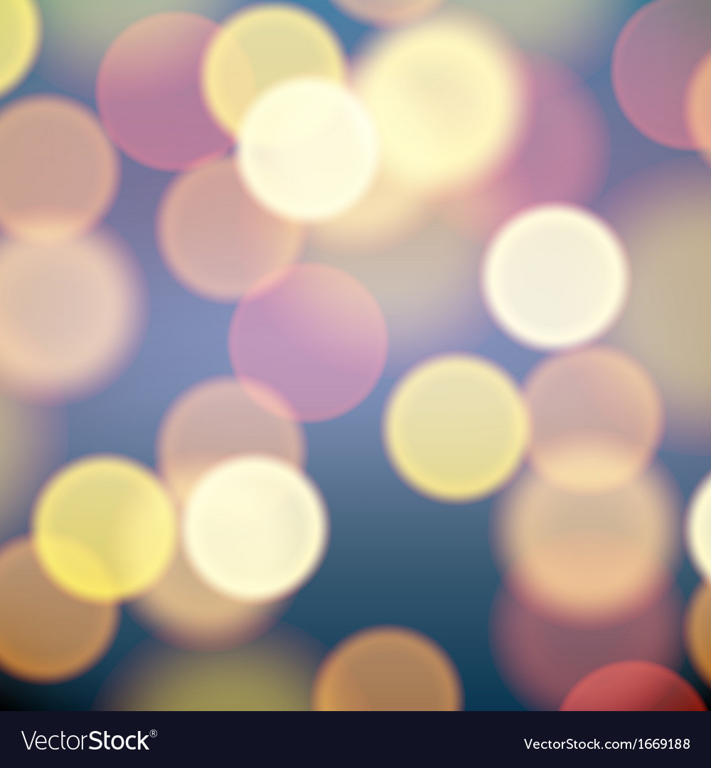 Christmas lights blurred background vector