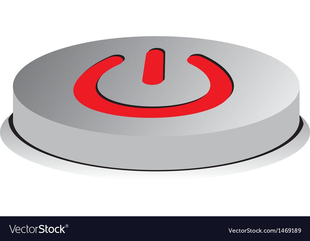 Button on vector