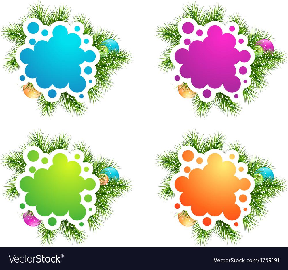 Christmas copyspace banner designs vector