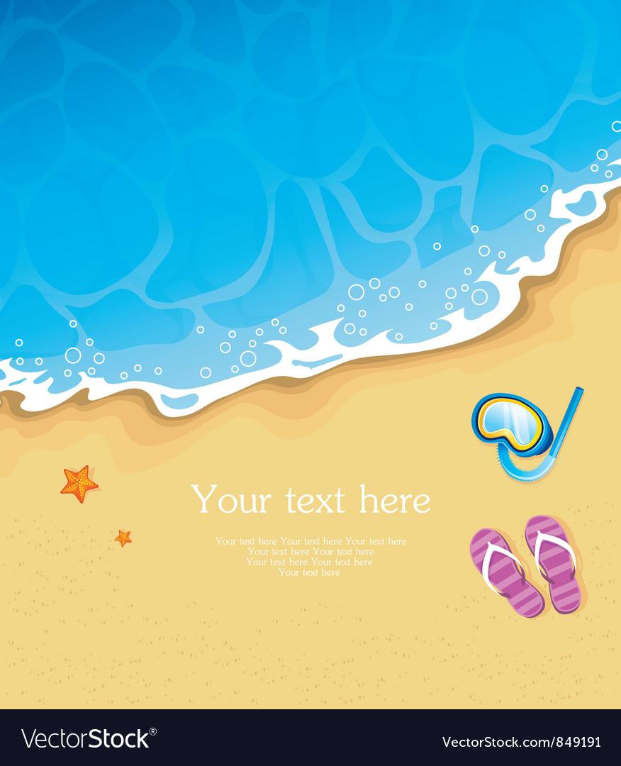 Tropic beach vector