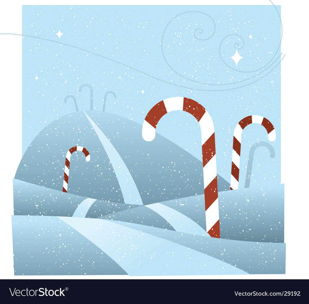 Candy cane hill vector