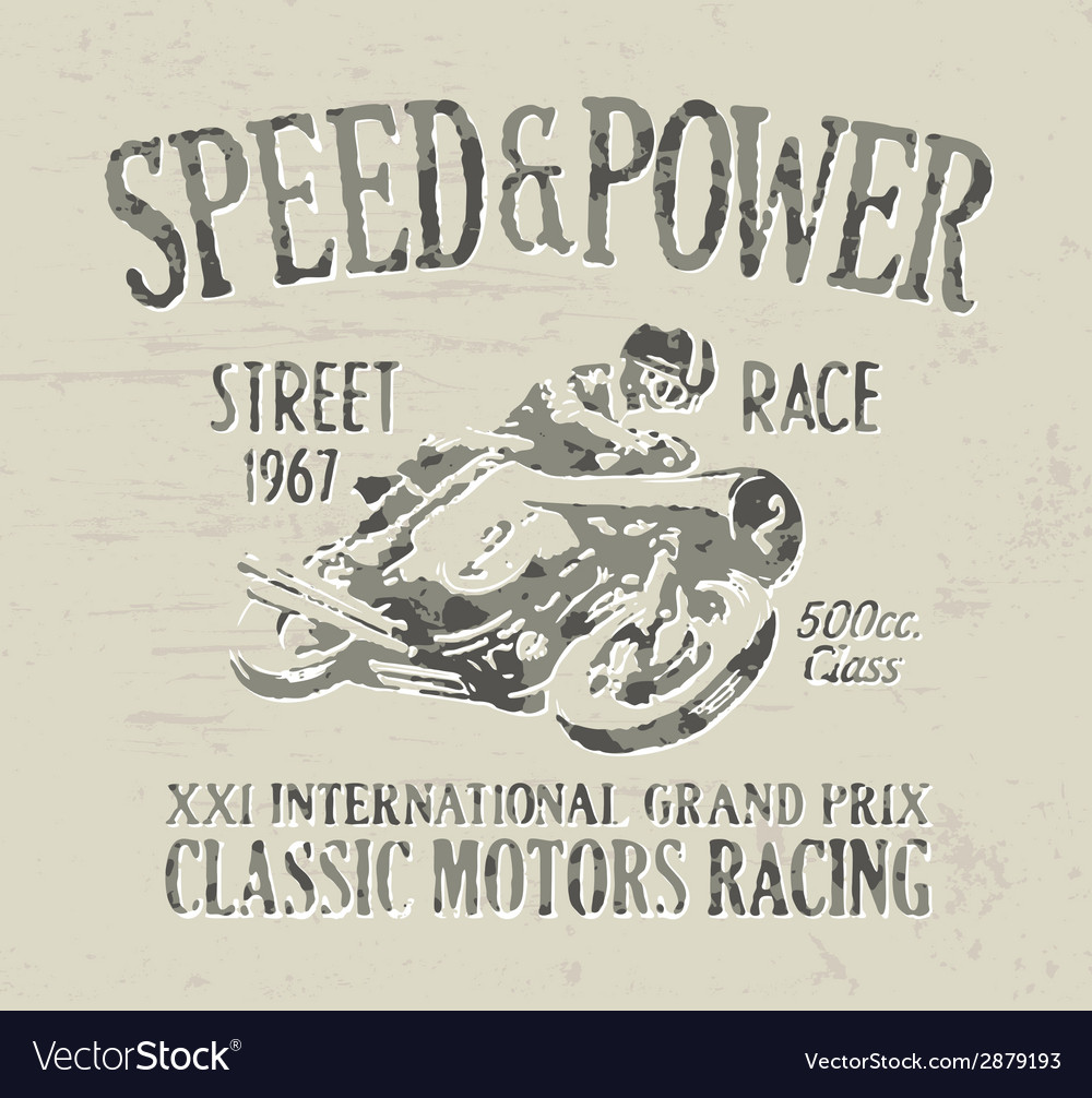 Classic motorcycle racing vector