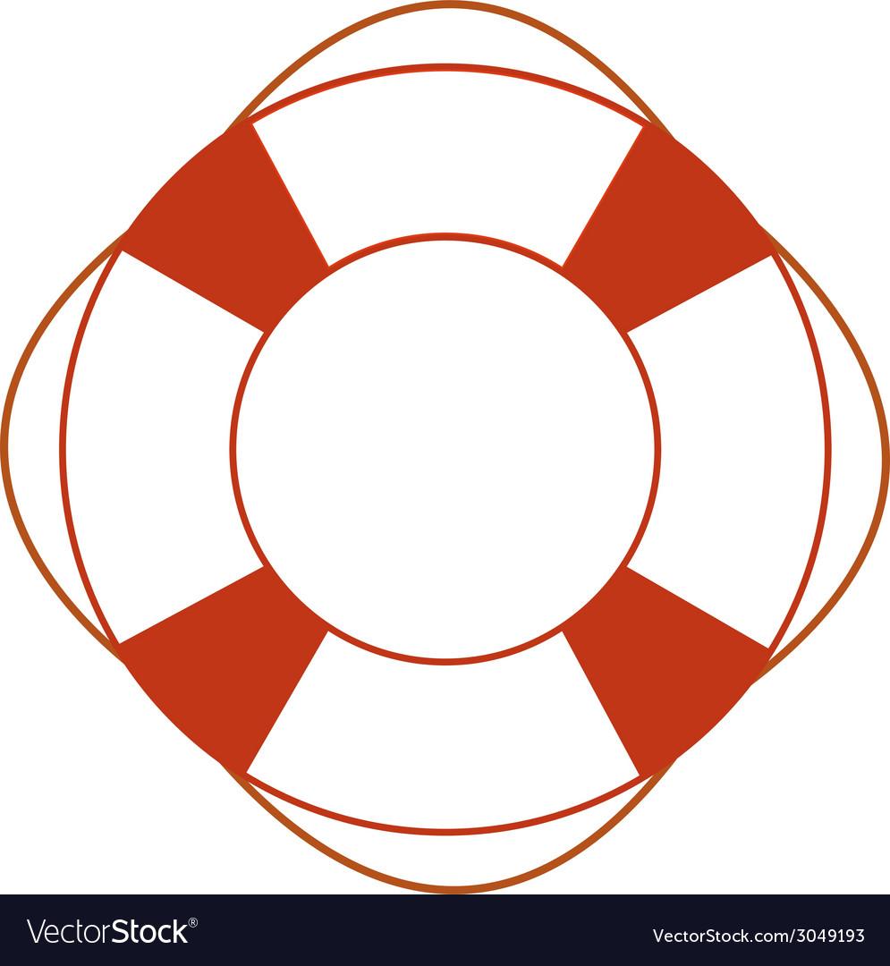 Orange safety ring vector