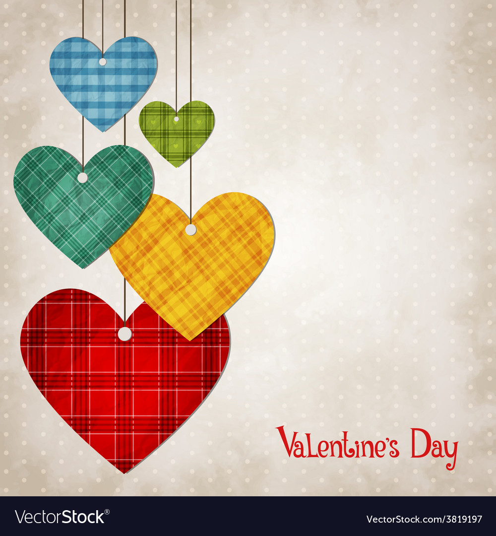 Hearts for valentines vector