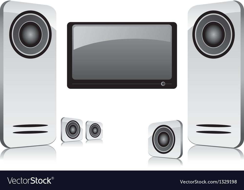 Home entertainment vector