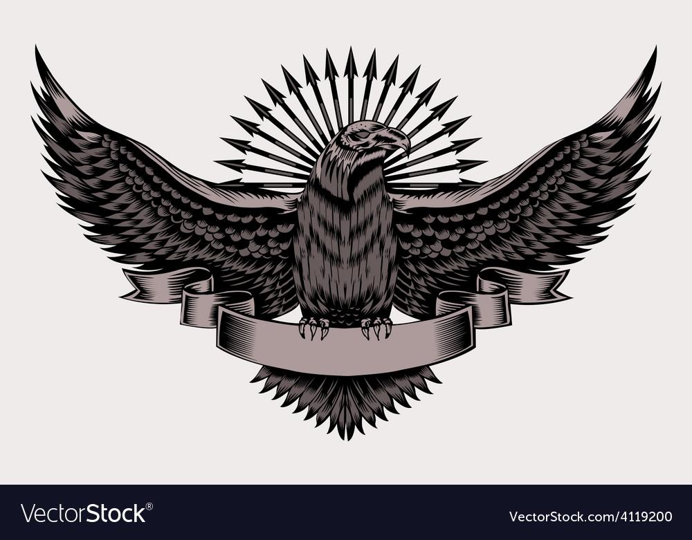 Emblem with eagle vector