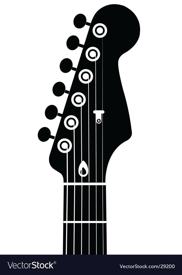 Guitar head vector