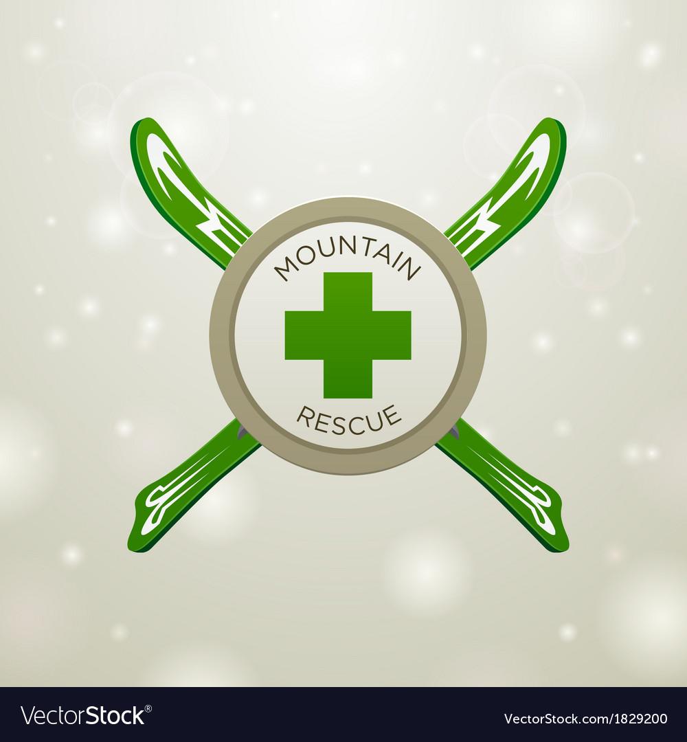 Logotype mountain rescue vector